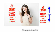 Keep Calm And Drink Coffee Wall Art Decal Sticker for Kitchen Many Colours KCC1