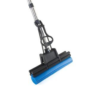 """PVA Sponge Mop - Super Absorbent 11"""" Quad Roller Foam Sponge Mop Floor Cleaner"""