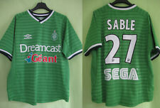 Maillot AS Saint Etienne 2000 ASSE Sable #27 Umbro Dreamcast Vintage - 168 / S