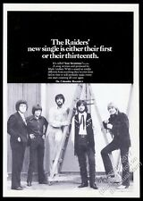 1970 The Raiders photo Just Seventeen record release trade print ad