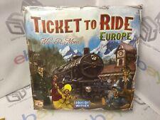 Days of Wonder DOW7202 Ticket to Ride Europe Board Game BNIB SEALED