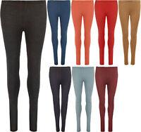 New Womens Jeggings Stretch Full Long Ladies Pocket Leggings Pants Trousers 8-14