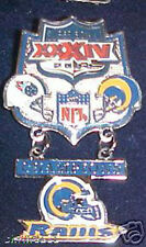 Super Bowl 34 Rams vs Titans Hanging Champs Dangle Pin