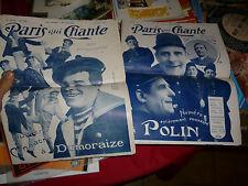 Paris Qui Chante : Dumoraize & Polin 1909 : Partition Parole et Musique