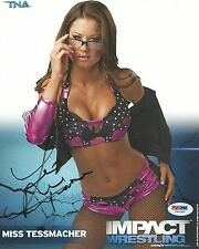 Miss Tessmacher Signed TNA 8x10 Photo PSA/DNA COA Impact WWE Diva Brooke Adams