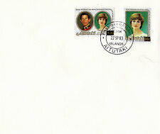 AITUTAKI 1981 / 1983 ROYAL WEDDING REVALUED PAIR FIRST DAY COVER SCARCE