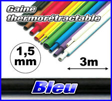 GB1.5-3# gaine thermorétractable Bleu 1,5mm 3m ratio 2/1