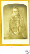 Real Photo Postcard RPPC - Woman w/ Fox Fur Collar