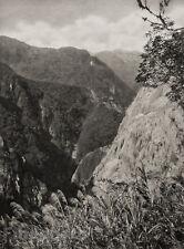 1929 TAIWAN Original Photo Gravure NOKO PASS MOUNTAIN Landscape Aian Art GRAEFE