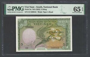 South Vietnam 5 Dong ND(1955) P2a Uncirculated Grade 65