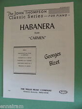 Georges Bizet Habanera from Carmen c. 1937 Piano sheet music