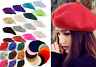 Women Sweet Solid Warm Wool Winter Beret French Artist Beanie Hat Ski Cap Hat BY
