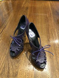 Pre Owned Authentic Women Christian Dior Leather Heels Size 38