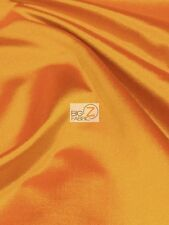 SOLID CREPE BACK SATIN FABRIC - Orange - BY THE YARD DRESS GOWN HOME DECOR BRIDE