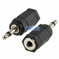 2 x 3.5 mm STEREO to MONO Jack Adapter Connector Converter Plug Male to Female