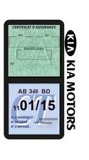 Porte vignette assurance KIA MOTORS double étui voiture Stickers auto rétro