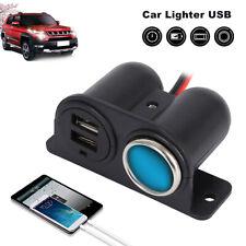 12V/24V Car Cigarette Lighter Socket Splitter Charger Power Dual USB Adapter UK