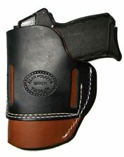 Custom USA Made Leather Belt Pistol Holster Kel Tec PF-9 P-11 P-40 Hip Rght hand