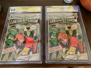 DC Comics Green Lantern Green Arrow #85 2 copies Signed CGC 6.0 and 5.5