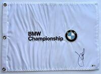 Jordan Spieth signed Bmw golf flag 2021 masters pga beckett coa