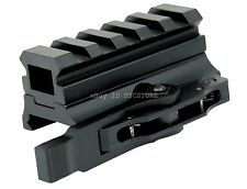 "13/16"" 5 Slot Quick Release Medium Profile Riser SEE-THRU Mount 20MM Rail"