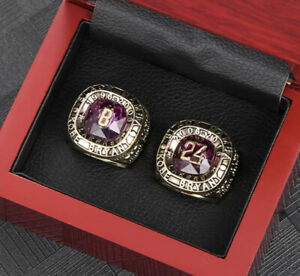 Kobe Bryant L.A Lakers Retirement Jersey rings 8 And 24 w/display box