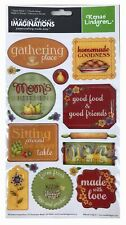 Creative Imaginations - Farmhouse Kitchen Epoxy Scrapbooking Stickers NEW