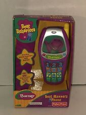 Vintage Barney and Friends Best Manners Toy Cell Phone Sings Songs Nib Brand New