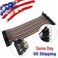 Jumper Wire Dupont Line Male to Female Arduino Breadboard PIC AVR 20pcs 20cm USA