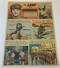 1943 cartoon page ~ British MAJOR GENERAL JEAN KNOX