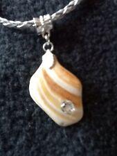 Sea Surf Tumbled Shell ADD A BEAD European Bead Or Pandora Charm Or Pendant