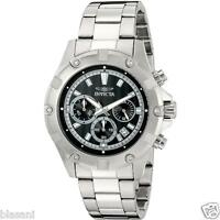 Invicta 15601 Specialty Men's Stainless Steel Black Dial 46mm Watch Chronograph