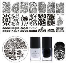 Born Pretty Stamping Set 2 Plates and 2 Stamping Polish 6ml Black White