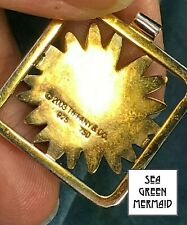 "18k Yellow Gold & 925 TIFFANY & Co. Daisy Pendant.  Large 1""--b75_8_20"