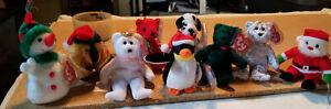 "ty  BEANIE BABIES  ""Jingle Beanies Ornaments""  Lot of 9   2002"