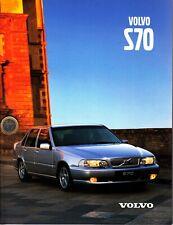 Volvo S 70 Prospekt Brochure 44 Seiten 1999