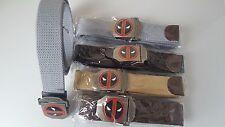 Men Belt Thicken Canvas Deadpool Belt Army Tactical Belt High Quality