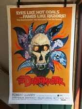 "1972 THE DEATHMASTER Rare 40 x 60"" DRIVE IN THEATER ORIG HORROR MOVIE POSTER!"