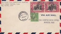 US Airmail 1929 First Trip Additional Service Frm Iowa Slogan Stamps Cover 48497
