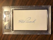 HG HENRY PICARD AUTO SIGNED 3 X 5 INDEX CARD PSA DNA 1938 MASTERS WINNER