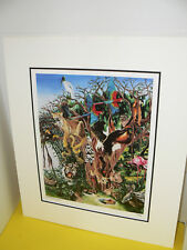 Susan Andreasen Zoo Friends Seriograph Signed Numbered Limited Ed. with Mat