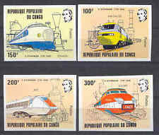 Eisenbahn, Railways, Stephenson - Kongo - 855-858 B ** MNH 1982