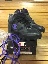 Vintage 90s Champion Turf Shoe Hi Top Rare Cleat Size 10.5