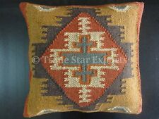 Set Of 2 Pcs Indian Hand Woven Kilim Cushion Cover Decorative Jute Pillow Cases