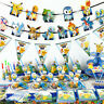 Pokemon Pikachu Birthday Party Supplies Bag Tableware Plates Cups Napkin Balloon