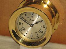 """Chelsea Ships Bell Clock~ Boston Model~Shipstrike~4 1/2"""" Dial~1974~Hinged Bezel"""