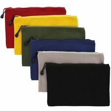"""6x DIY Blank Canvas Cosmetic Makeup Zipper Toiletry Bag Pouch for Stationery 9"""""""