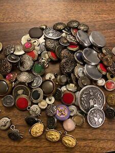 Shank buttons lot Military War Buttons Train Button Lot Vintage