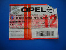 01/02 FC Bayern München - Hertha BSC Berlin Eintrittskarte Ticket Sammler FCB