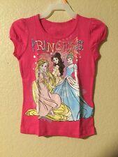 Disney Princess CINDERELLA, RAPUNZEL & BELLE T-shirt GIRLS Pink Color Size 5